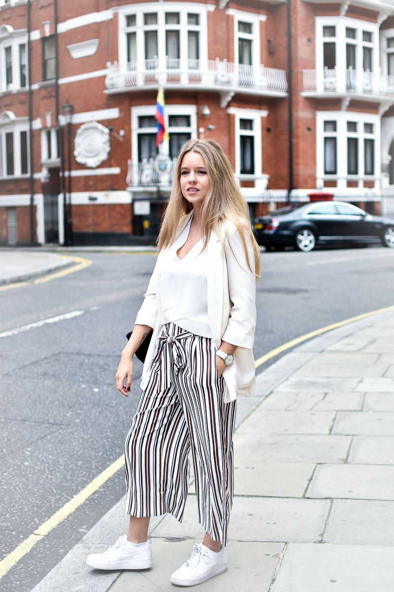 JUPE CULOTTE // WHITE LOOK // LONDON