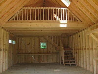 Mytinyhousedirectory amish built shed for a tiny home for How to build a small cabin with a loft