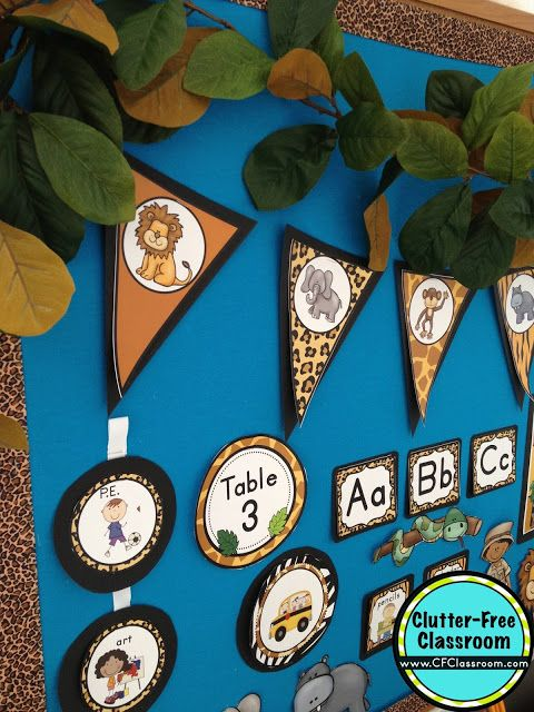 Good Jungle Theme Classroom Decorating Ideas Part - 11: Clutter-Free Classroom: Jungle / Safari Themed Classroom {Ideas, Photos,  Tips, And More}