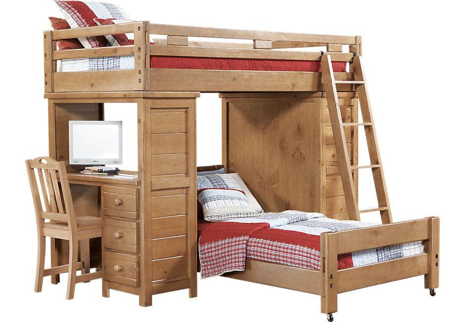 Creekside Taffy Twin Student Loft, Student Loft Bed With Desk