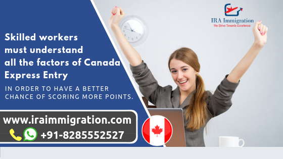 Check with IRA immigration for the Canada Express Entry CRS Points