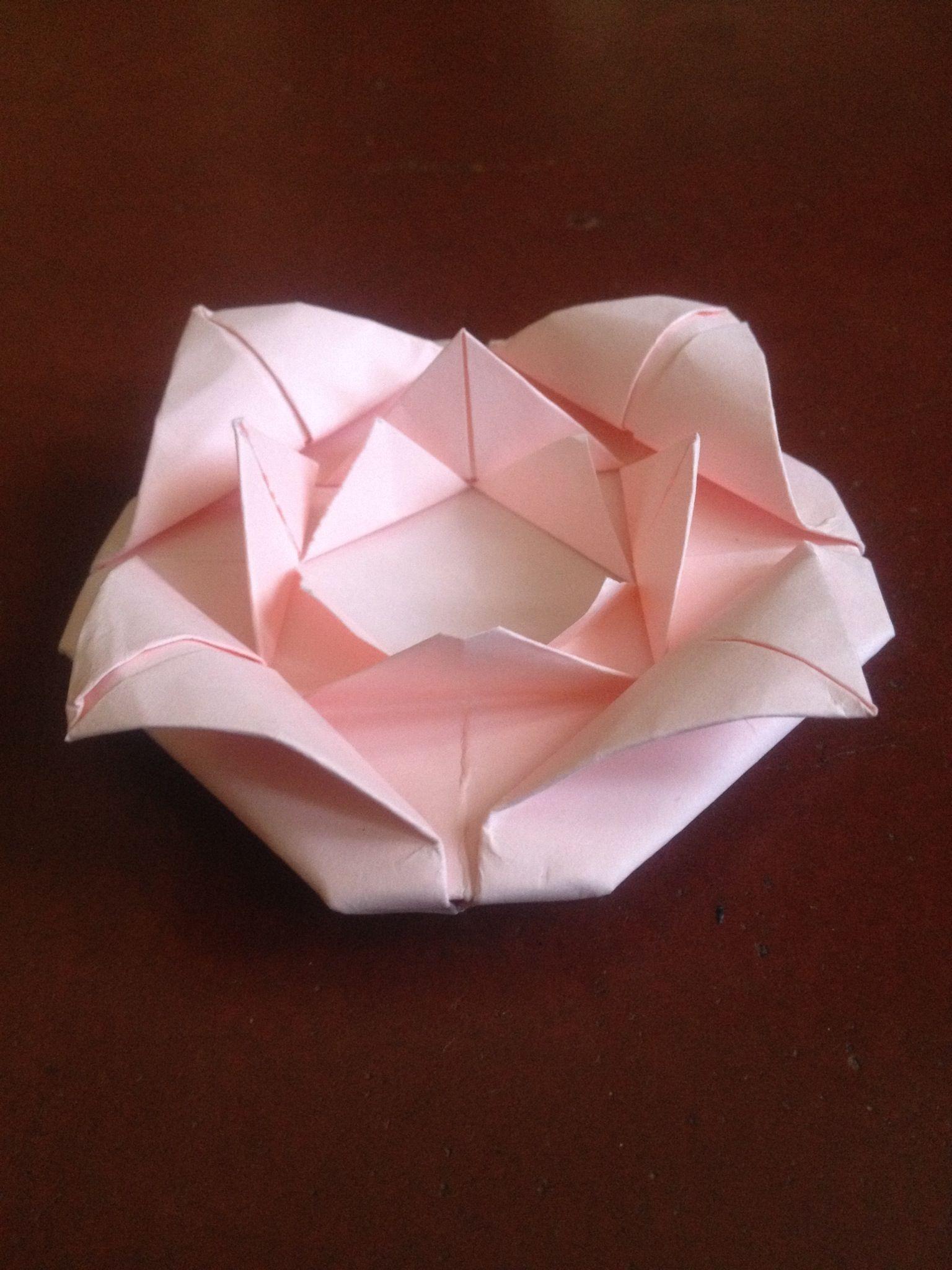 how to make origami rose flower recipe origami. Black Bedroom Furniture Sets. Home Design Ideas