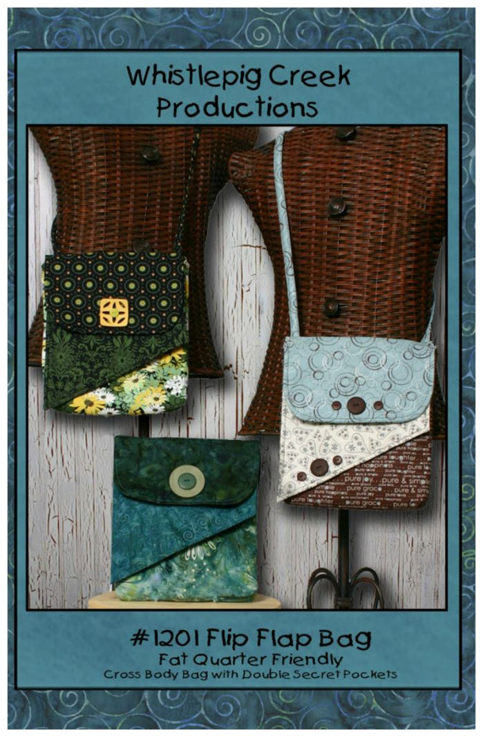 PDF downloadable bag sewing pattern for the Flip Flap bag. | Bags to ...