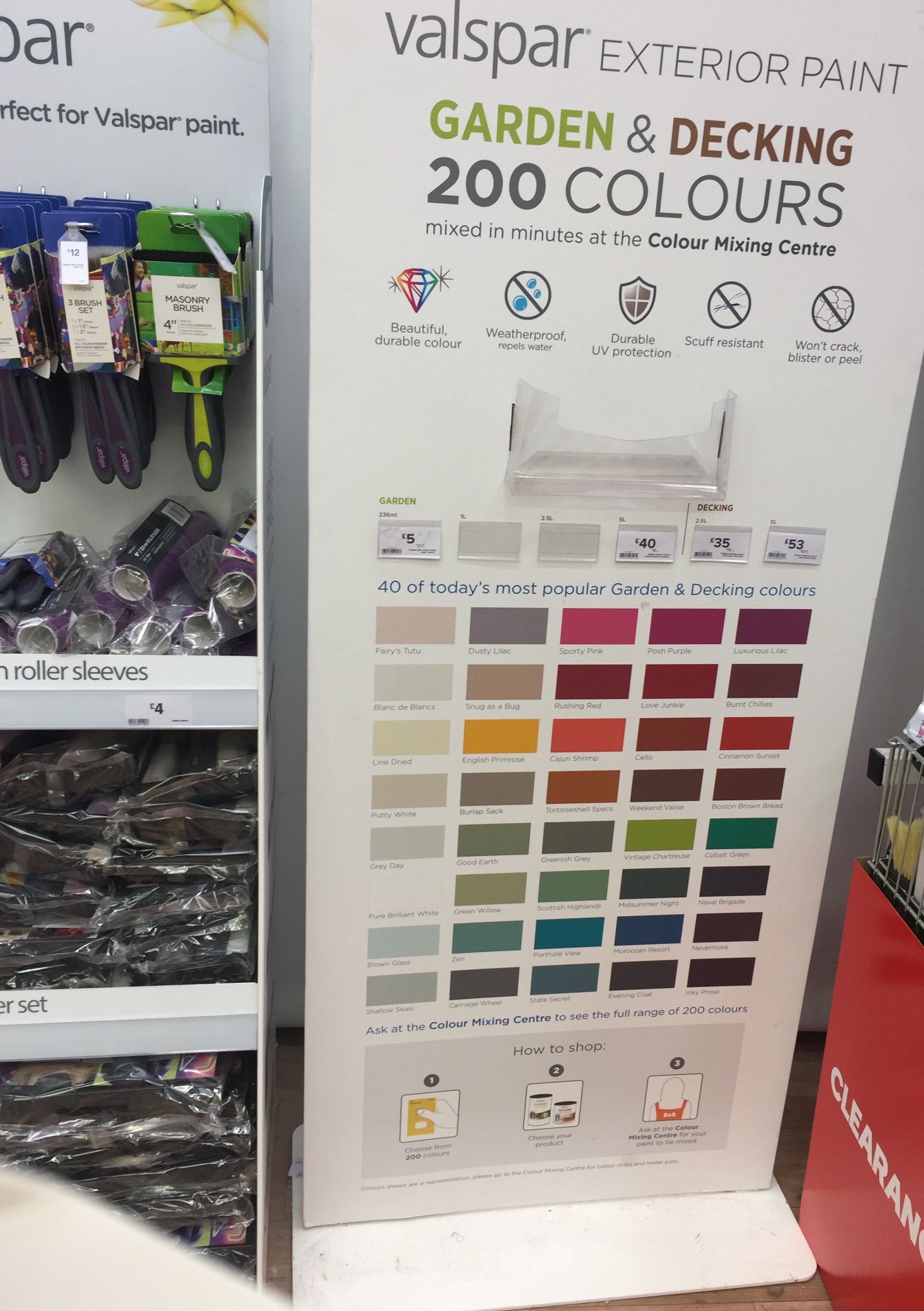 Valspar Paint Colours Now Available In B Q Lovely For Garden Decking Also A Great Range