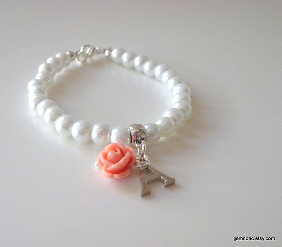 Flower Girl Gift Personalized Flower Girl Bracelet Kids Wedding