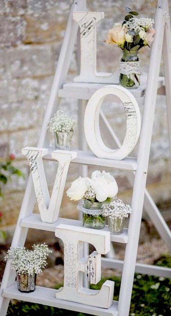 Wooden LOVE Letters Shabby Chic Wedding  eBay  Wedding