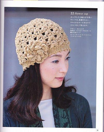TEJIDOS CROCHET  boina crochet  d375e530fb6