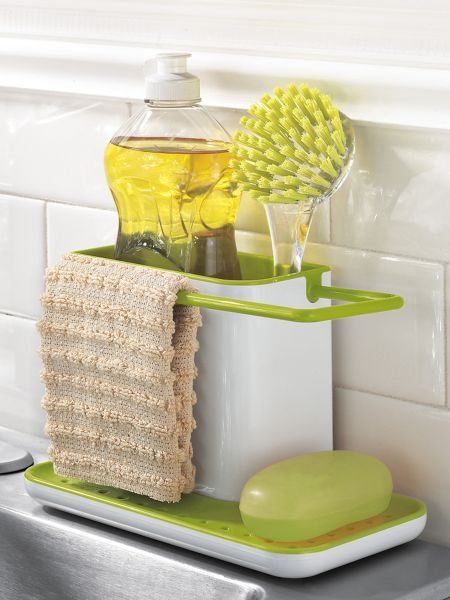 Organize your kitchen sink with a touch of contemporary for Utensilios de cocina kitchen