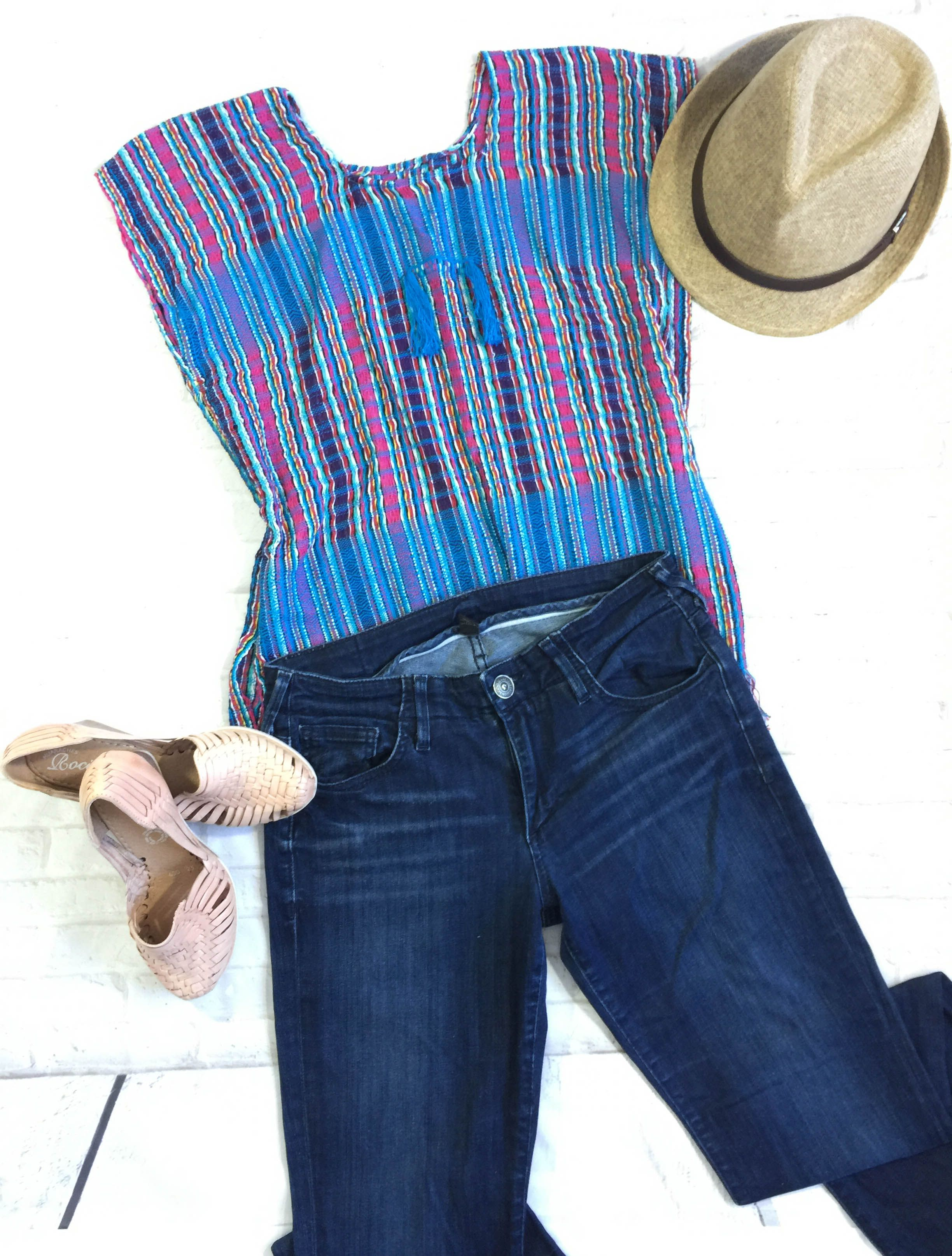 SALE!! $25 & Free Shipping, Last one!!! Mexican Embroidered Blouse