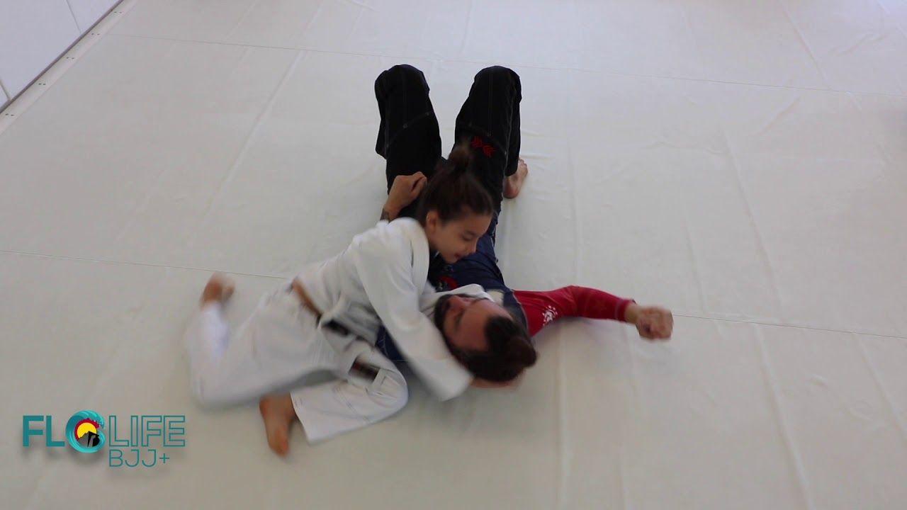 Bjj black belt mike spider ninja bidwell with son doing