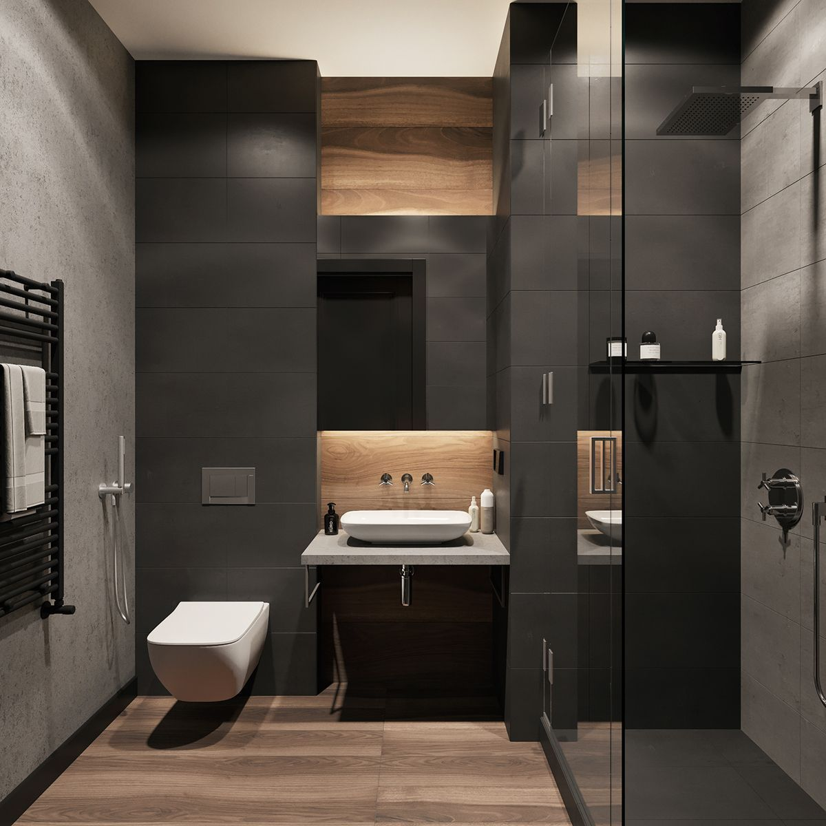 Modern Home Interiors And Design Ideas From The Best In Condos Penthouses And Architecture P Industrial Bathroom Design Lavatory Design Bathroom Design Small Modern home bathroom design