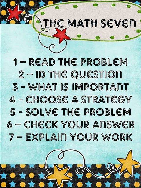 The Math 7 Poster (problem-solving strategies) | Math | Pinterest ...