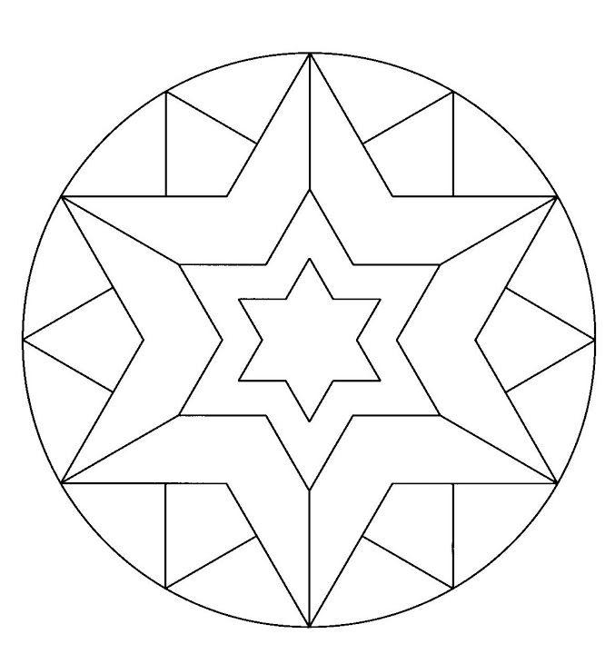 Mandala Etoile Mandala Mandalas Coloriage Coloriage Etoile Mandala Etoile Coloriage