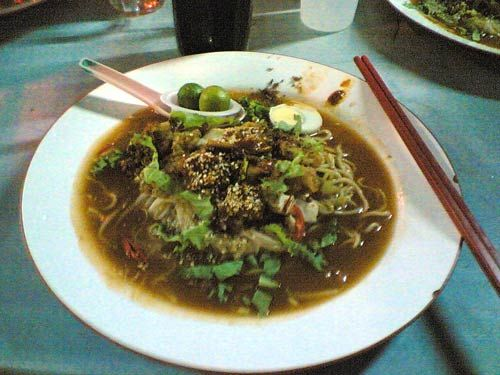 Jawa Mee @ Kedai Makanan Sky @ near and after KFC along Jalan Genting Kelang @ Setapak. Photo by kyspeaks.