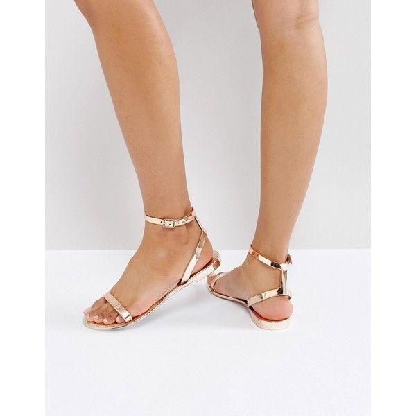 ASOS FELINE Jelly Flat Sandals ($15