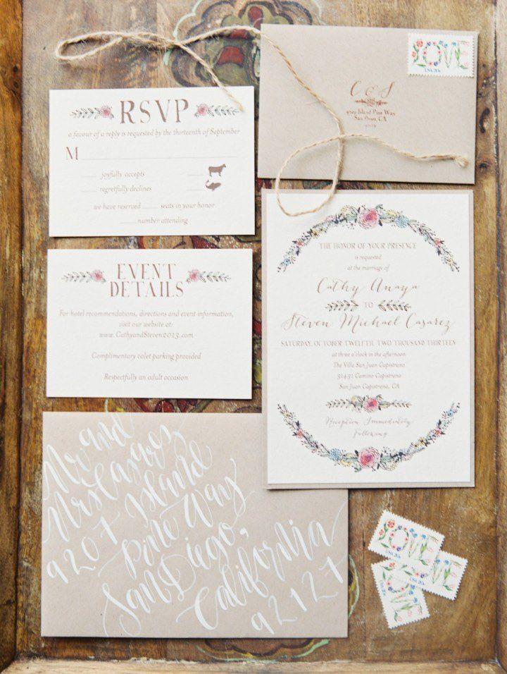 Wedding Invitation Inspiration - Photo: Erich McVey | Invitation ...