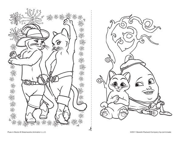 Dibujos Para Colorear De El Gato Con Botas Gato Con Botas