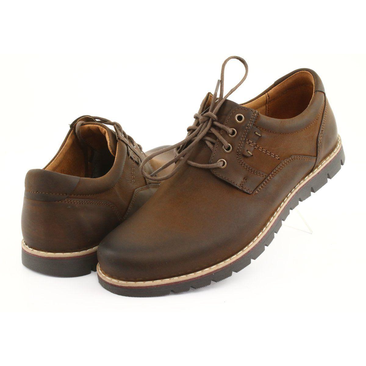 Polbuty Meskie Riko Polbuty Sznurowane Riko 761 Brazowe Shoes Dress Shoes Men Shoes Mens