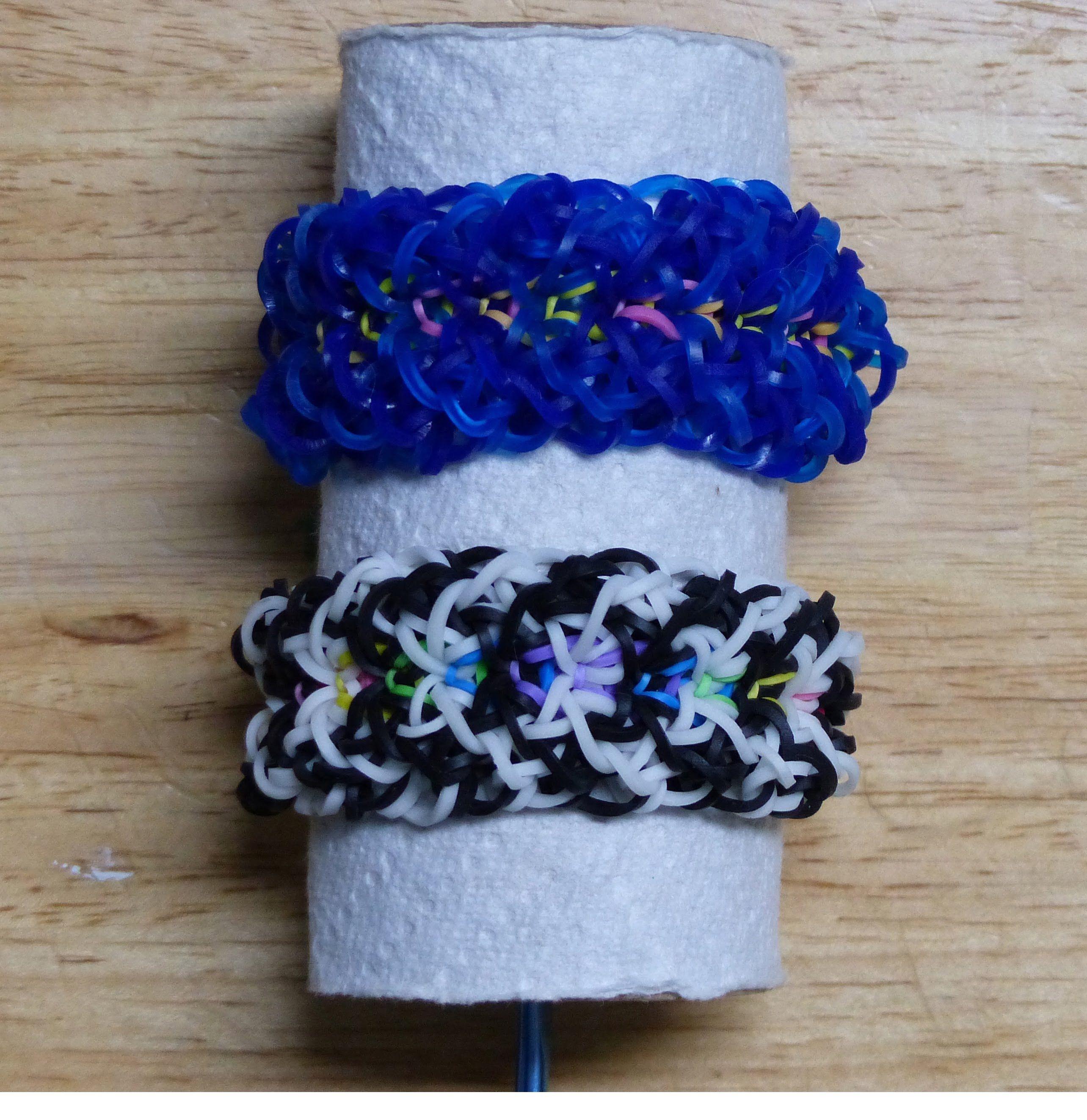 "Rainbow Loom Bracelet - Original Design - ""SNOODLE"" (ref # 6b)"