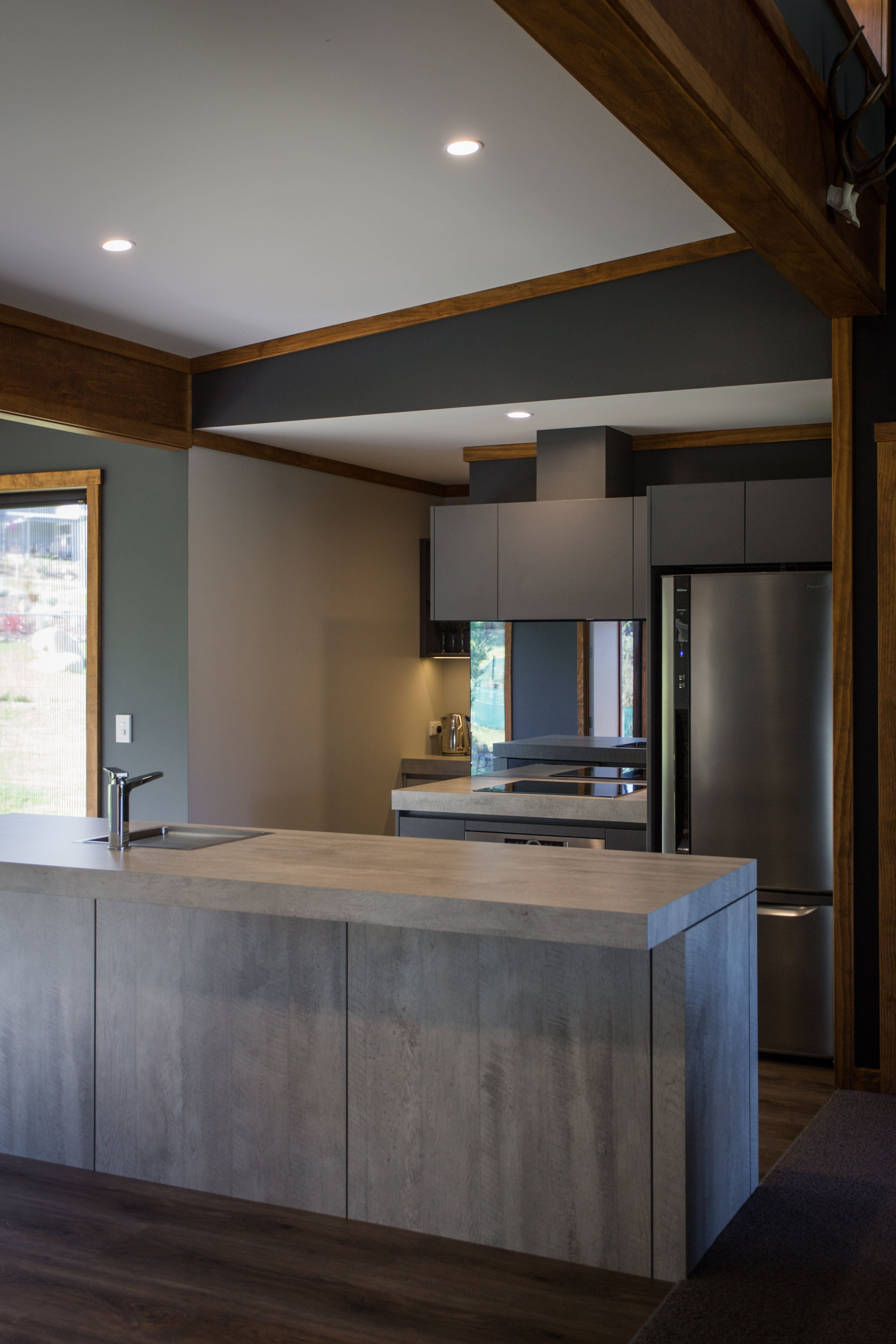 featuring Laminex laminate Concrete Formwood Kitchen