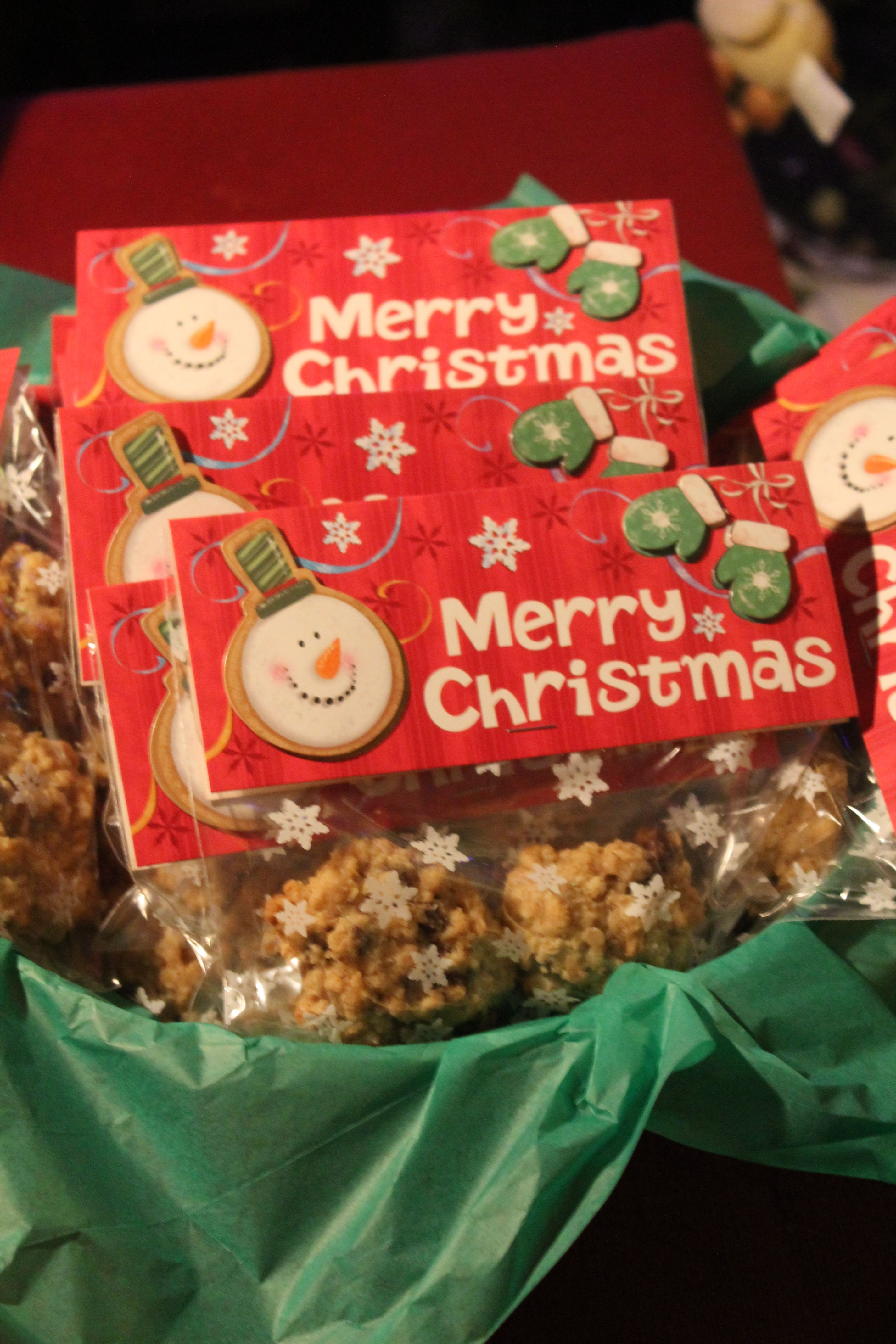 Oatmeal Chocolate Chip Cookie Treat Bags For Teachers
