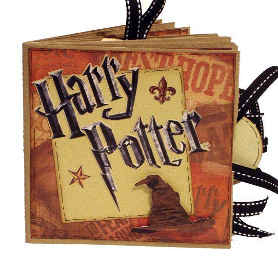 Harry Potter Scrapbook   Paper Bag Album by apicketfencelife, $25.00