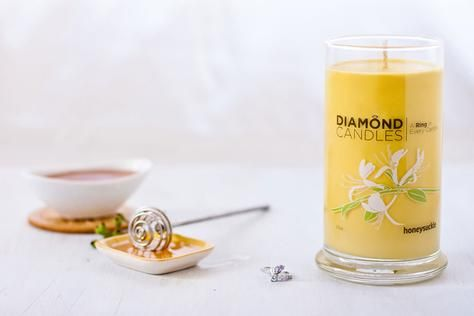 Honeysuckle Ring Candle by diamondcandles