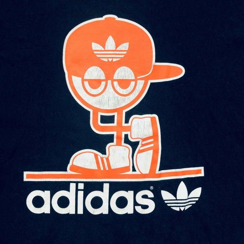 para Rechazar Masculinidad  Vintage Retro Orange Adidas Logo Spellout Trefoil Hip Hop Navy | Etsy | Adidas  logo art, Cool adidas wallpapers, Adidas art