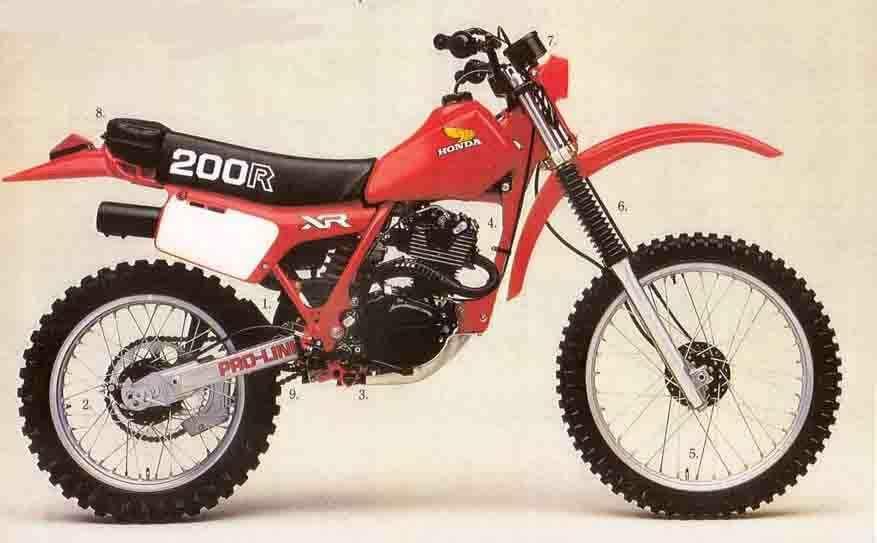 1981 Honda Xr200r Enduro Vintage Motos Anciennes