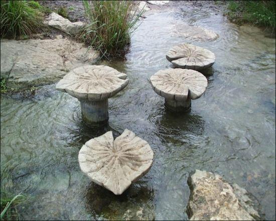 Garten Trittsteine Design Ideen Teich Dekoration