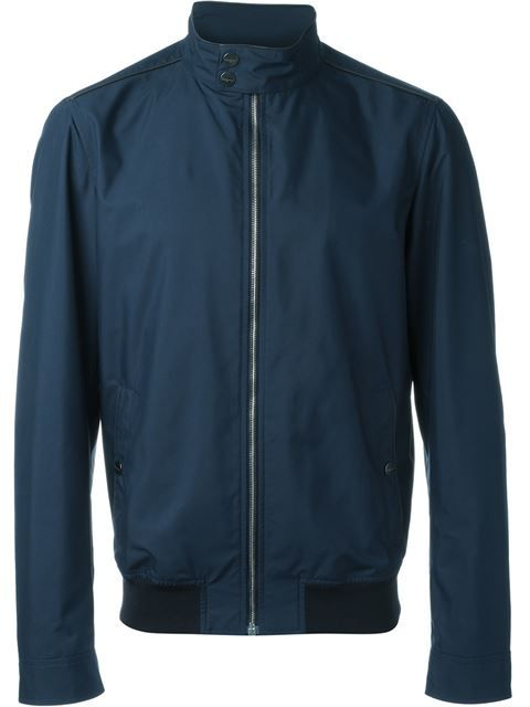 SALVATORE FERRAGAMO Funnel Neck Bomber Jacket. #salvatoreferragamo #cloth #jacket
