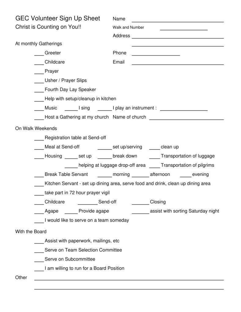 Volunteer Signup Sheet Templates Pdf Free Premium Templates For Volunteering Form Disclaimer Templates 10 P Student Jobs Introduction Letter Volunteer Forms