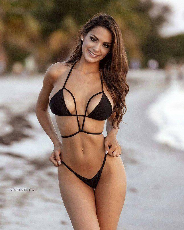 Bikini girl modeling