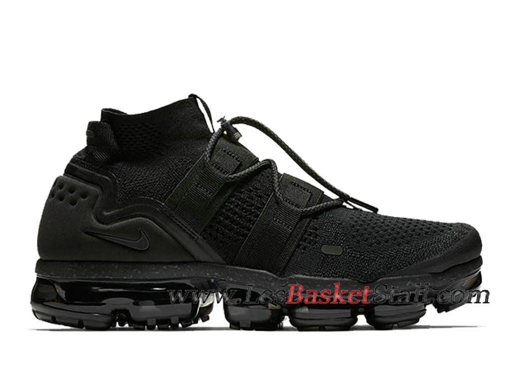 61d8b925a2 Basket Nike Air VaporMax Utility Chaussures Officiel 2019 Pas Cher Pour  Homme Noir AH6834-001