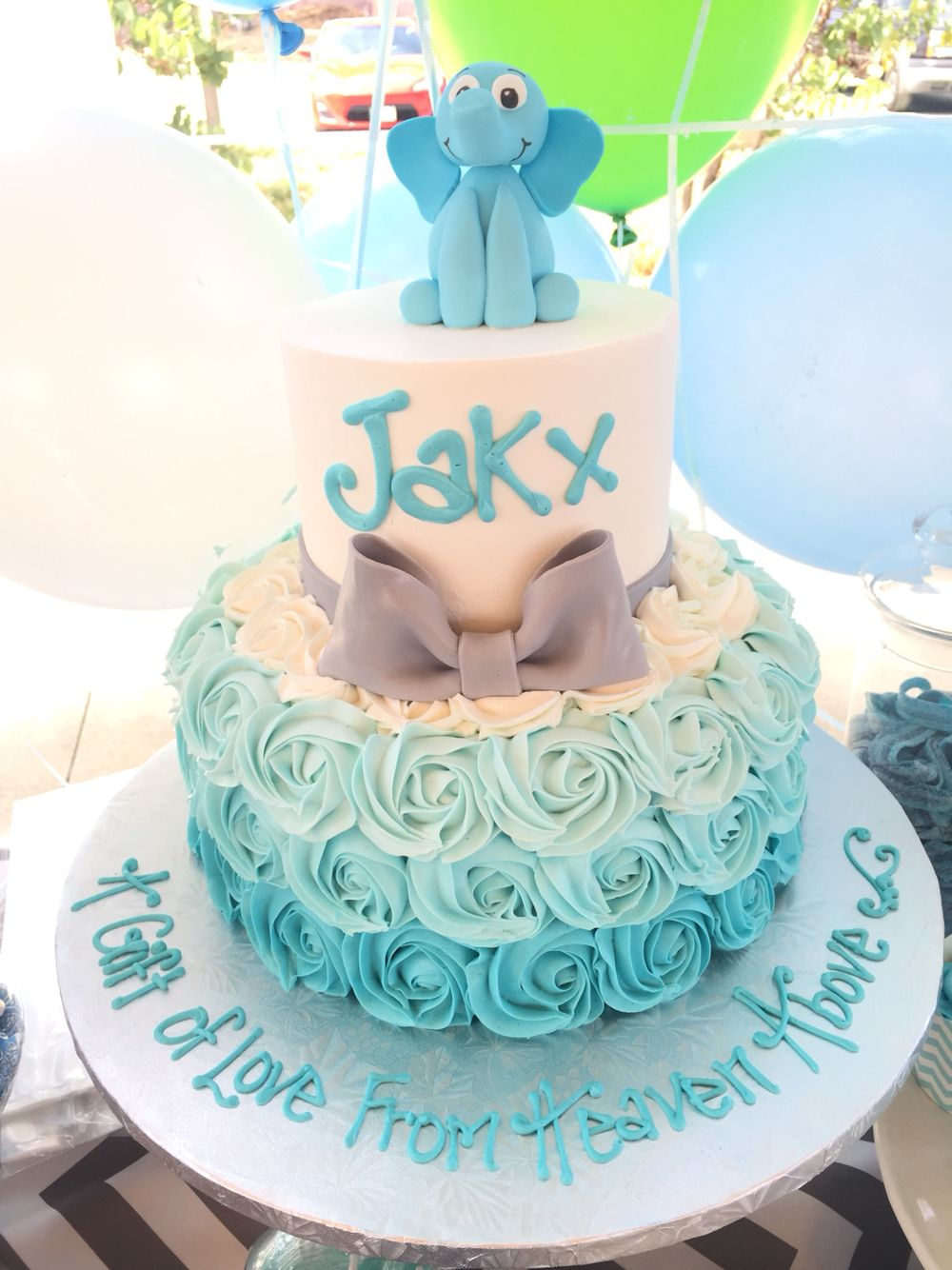 Baby Shower Candy Table Elephant Cake Itsaboy Boy