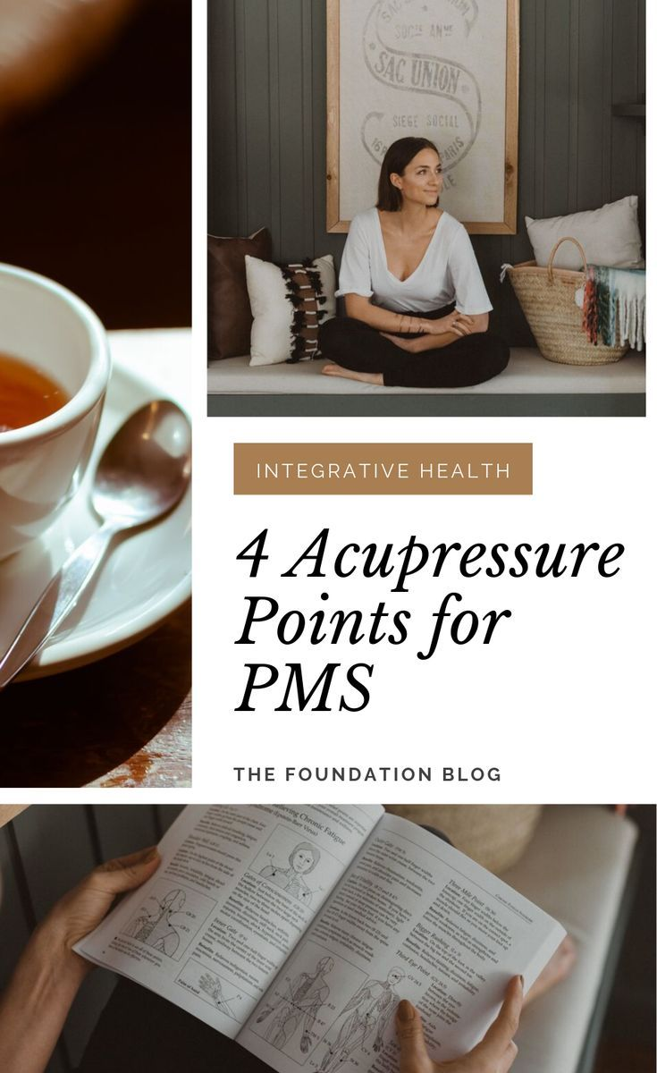 Period Relief 4 Acupressure Points For PMS Acupressure