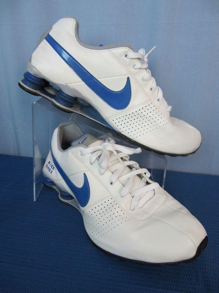 Nike leather Shox White Running training athletic Shoes