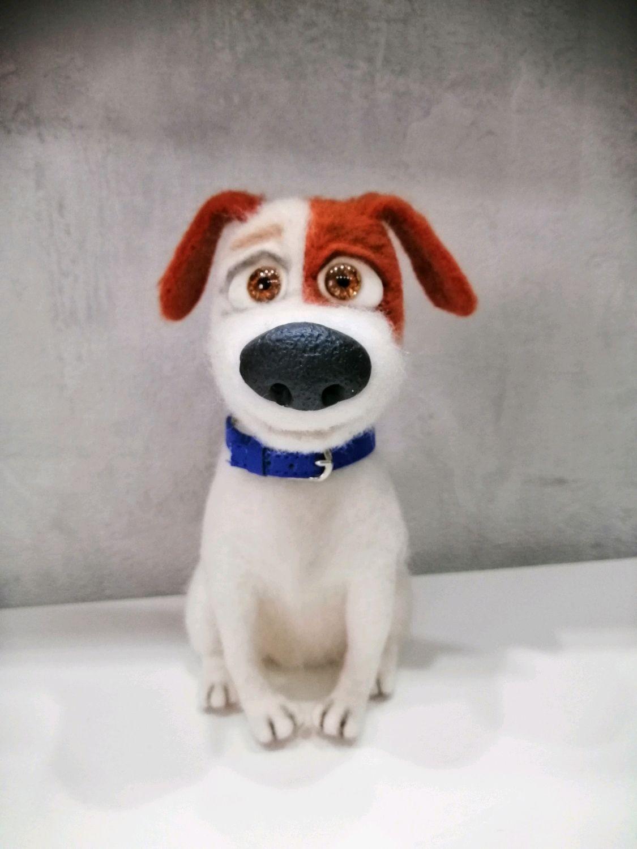 Валяная из шерсти Собака Макс – купить на Ярмарке Мастеров ...