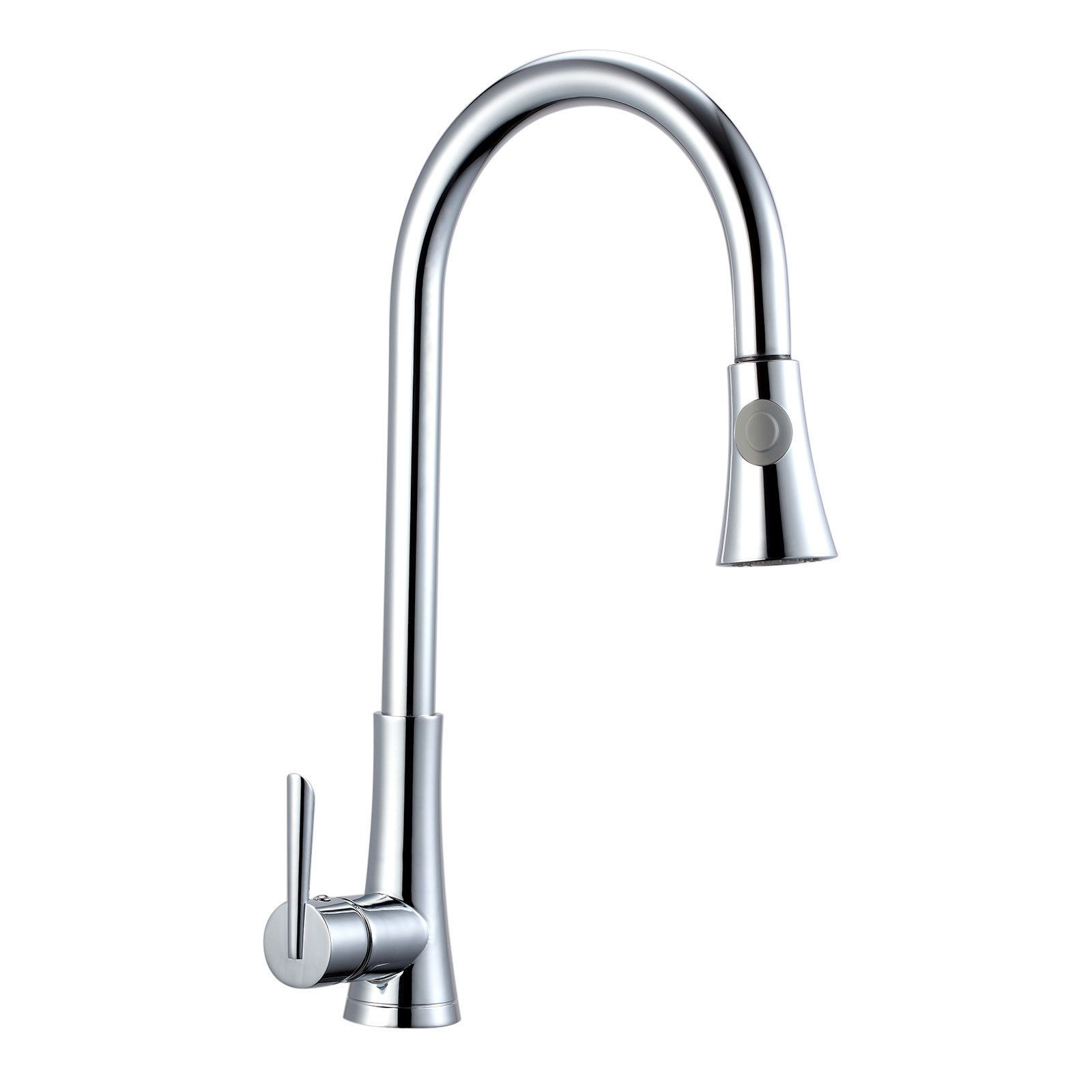 New Chrome Finish Pull out Kitchen Mixer Tap Bath Basin Sink Faucet ...