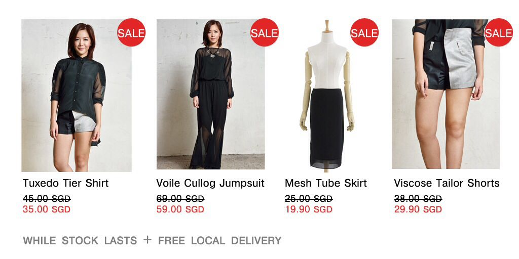 GSS sale at .Shi! Grab it while stocks last!