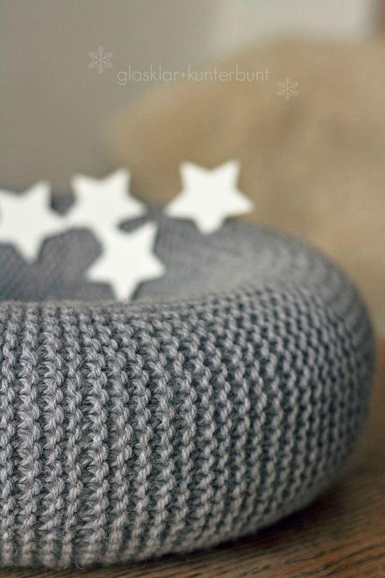 gestrickter adventskranz waiting for christmas diy. Black Bedroom Furniture Sets. Home Design Ideas
