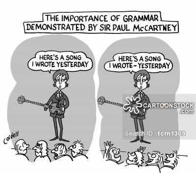 Perhaps not the best example, since he DID write the song (in a dream, no less!) the day before it was performed for the very first time (and everyone loved it, of course, because he's Paul McCartney, and he's just that good). Nevertheless, the point of the cartoon remains: punctuation IS important for the meaning of a sentence.