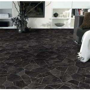 Tarkett Broken Slate Black Vinyl Bathroom Flooring Slate Flooring Flooring Black Floor Tiles