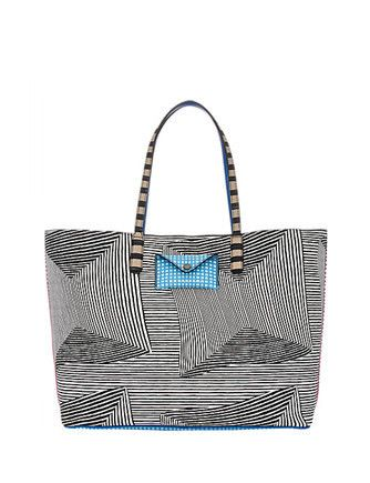 Marc by Marc Jacobs Metropoli Optical Stripe Multi Travel Tote