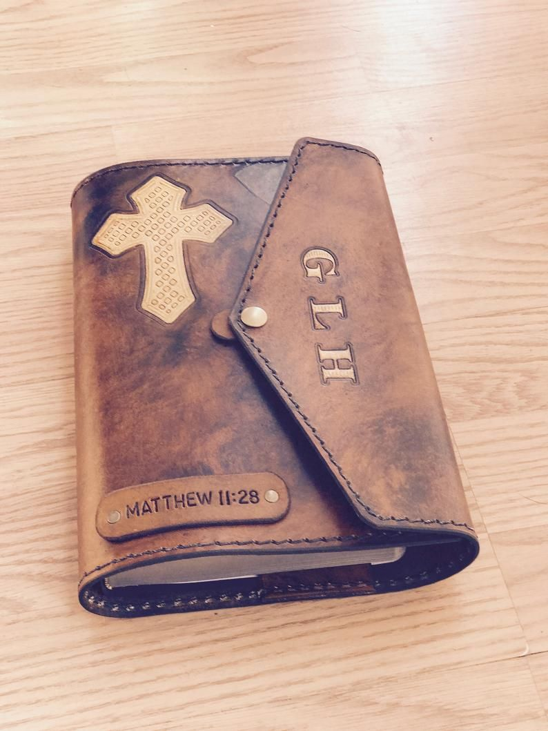 """FREE SHIPPING! For 5/"""" by 8/"""" LEATHER BIBLE//BOOK COVER KIT by TANDY"""