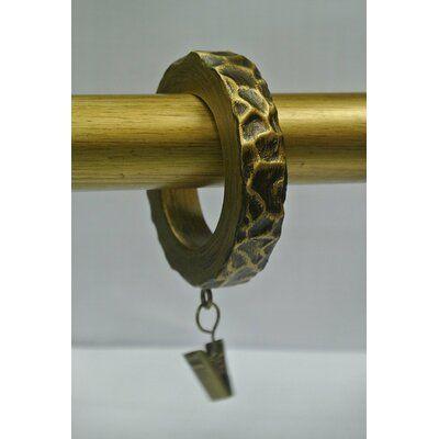 Brayden Studio Purkey Flat Side Hammered Designer Curtain Ring
