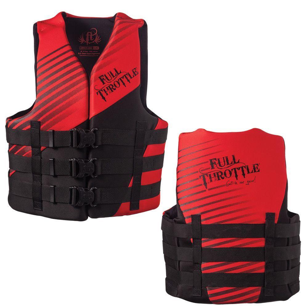 Full Throttle Rapid Dry PFD Adult L/XL Red/Black