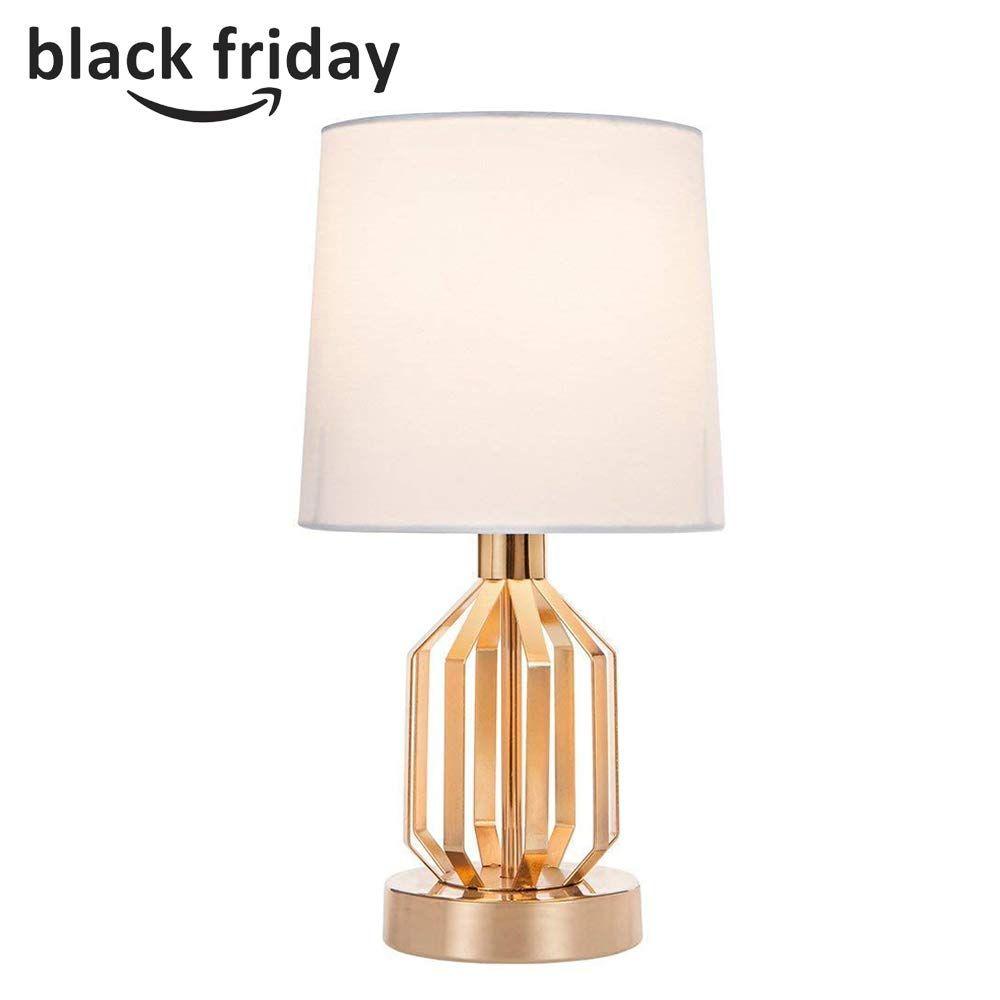 Sottae Fashionable Golden Lamp Hollowed Base Living Room Bedroom