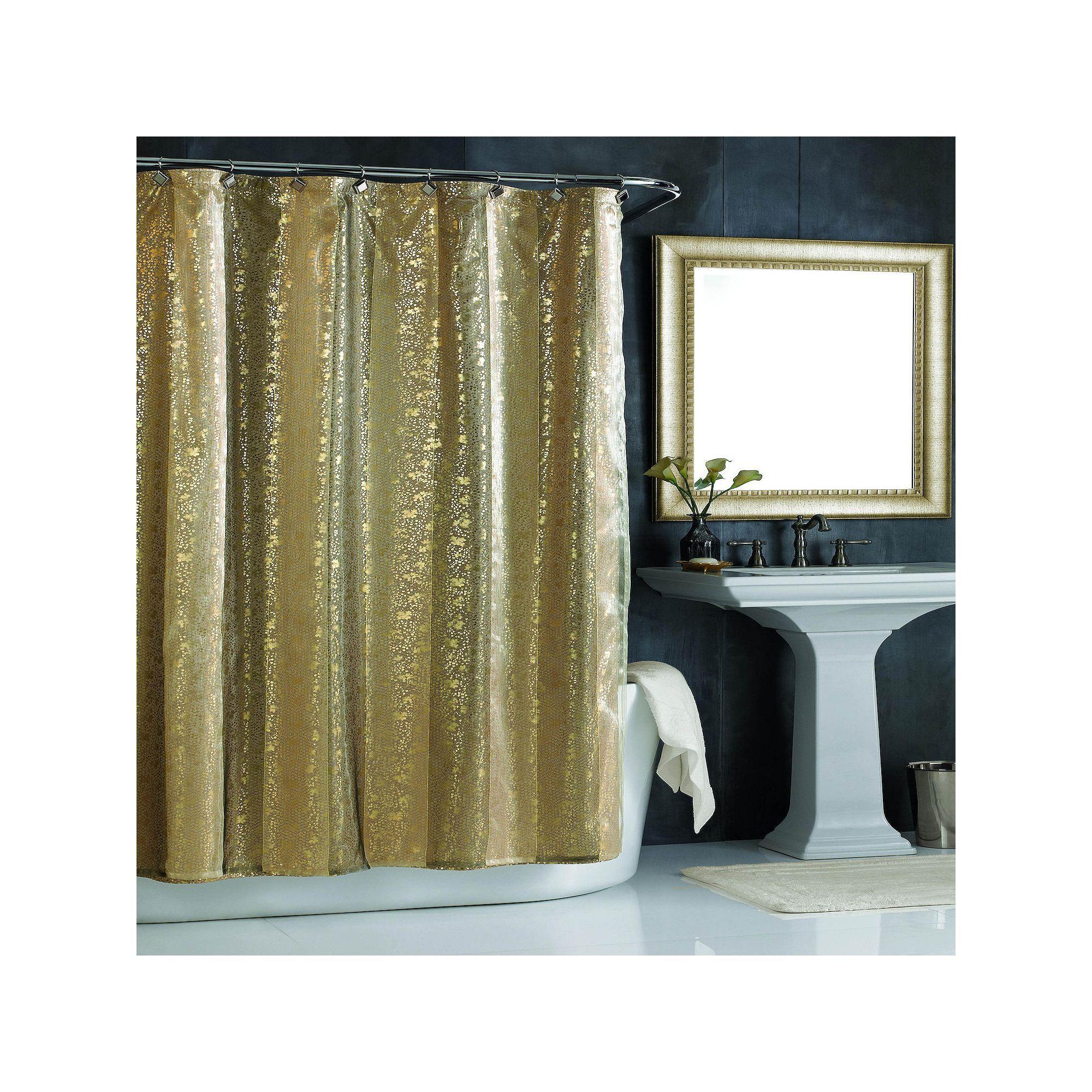 City Scene Sheer Bliss Shower Curtain In 2021 Gold Shower Curtain Long Shower Curtains Purple Bathrooms
