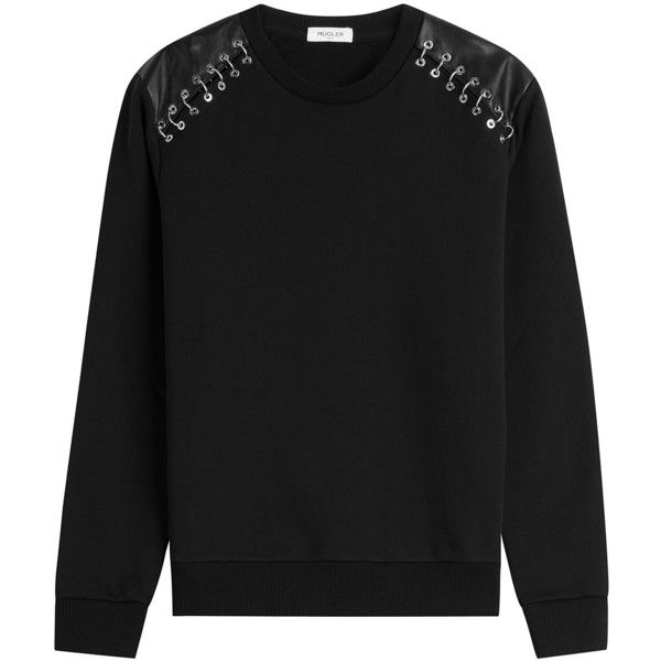 Mugler Cotton Pullover (19,480 PHP) ❤ liked on Polyvore featuring ...